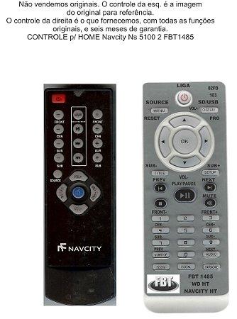 Controle Remoto Compatível Navicity Home Ns5100 FBT1485