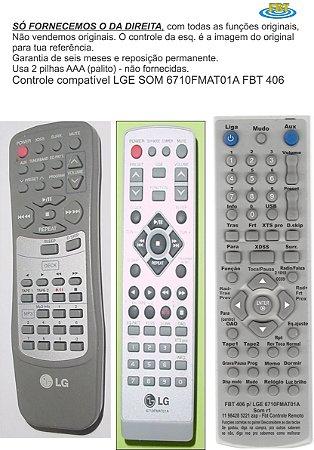 Controle Remoto Compatível - LG Som 6710fmat01a Lm-u1050a/d/x 101 FBT406