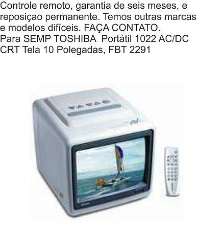 Controle Remoto Compatível P/Semp Toshiba Portátil 1022 Crt Tela 10 FBT2291