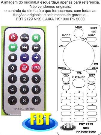 Controle Remoto Compatível P/ Nks Pk 1000 1500 Excellence 300 Pk5000 FBT2129