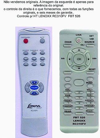 Controle Remoto Compatível Lenoxx Hometheater Rc310fv FBT526