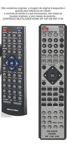 Controle Remoto Compatível - Multilaser Home SP148 SP168 FBT2144