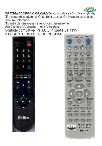 Controle Remoto Compatível Exclusivo Philco PH24A diferente do PH24M FBT1195