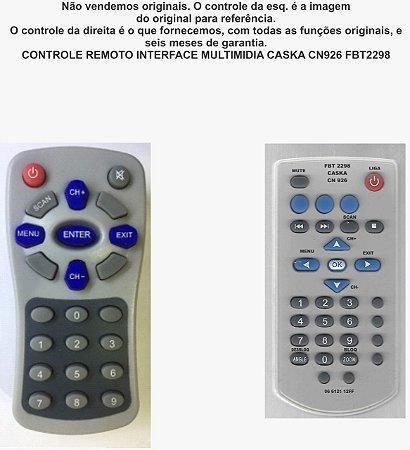 Controle Remoto Compatível Interface Multimidia Caska CN926 FBT2298