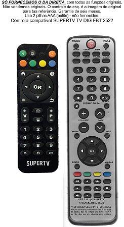 Controle Remoto Compatível RECEPTOR SUPERTV TV Digital FBT2522