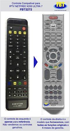 Controle Compatível IPTV Netfree X200 Ultra 7 FBT2272