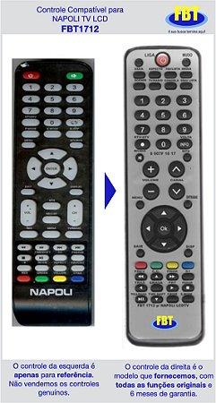 Controle Compatível Napoli TV LCD FBT1712