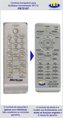 Controle Compatível Multilaser Hometheater SP110 FBT2107