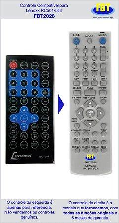 Controle Compatível Lenoxx Automotivo Rc503 Rc501 FBT2028