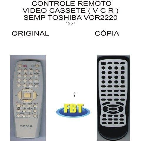 Controle Video Cassete Vcr Semp Toshiba