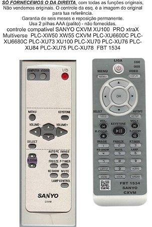 Controle Sanyo Cxvm Xw50 55 Xu 6600c 6680c 73 70 Fbt1534