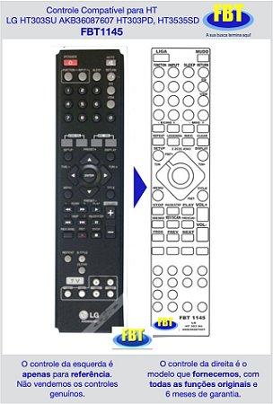 Controle Compatível para HT LG HT303SU AKB36087607 HT303PD, HT3535SD FBT1145