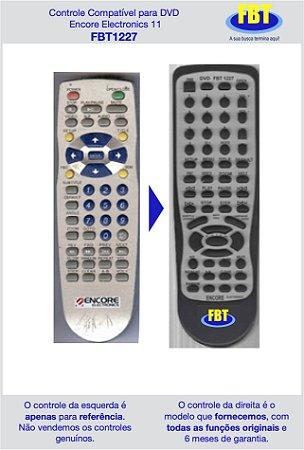 Controle Compatível para DVD Encore Electronics 11 FBT1227
