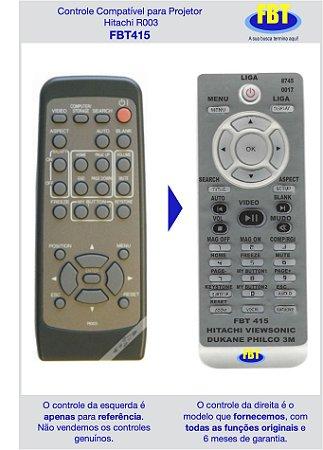 Controle Compatível para projetor Hitachi R003 FBT415