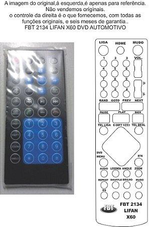 Controle Remoto Compatível - p/ LIFAN X60 DVD Automotivo FBT2134