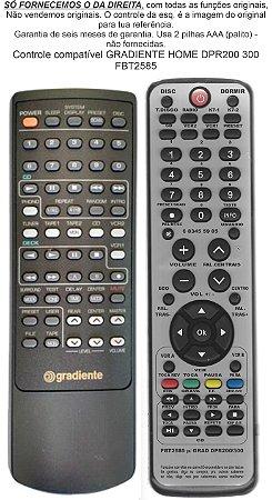 Controle compatível GRADIENTE HOME DPR 200 300 FBT2585