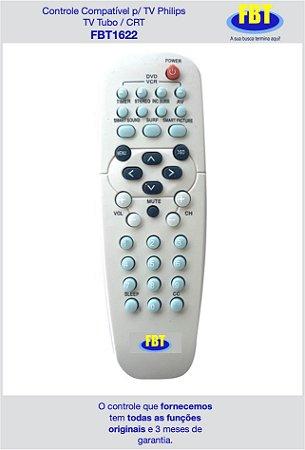 Controle Compatível para TV Philips TV Tubo / CRT FBT1622
