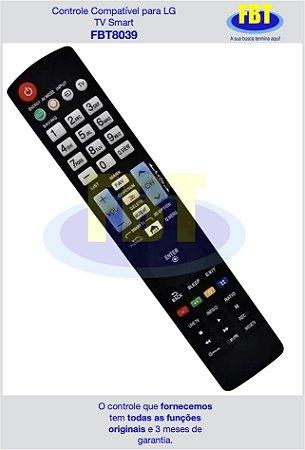 Controle Compatível para LG TV Smart FBT8039