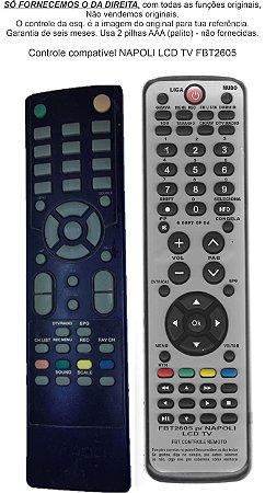 CONTROLE COMPATÍVEL NAPOLI LCDTV FBT2605