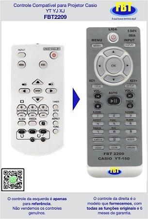 Controle Compatível para Projetor Casio YT YJ XJ - FBT2209