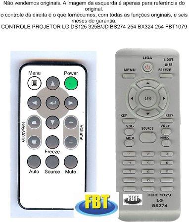 CONTROLE PROJETOR LG DS125 325B/JD BS274 254 BX324 254 FBT1079