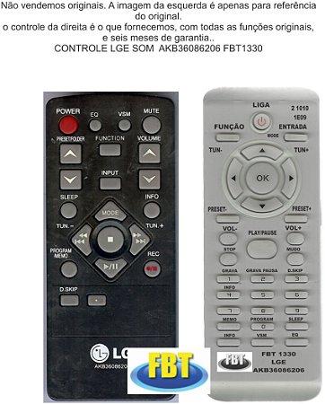 CONTROLE LG  SOM  AKB36086206 FBT1330