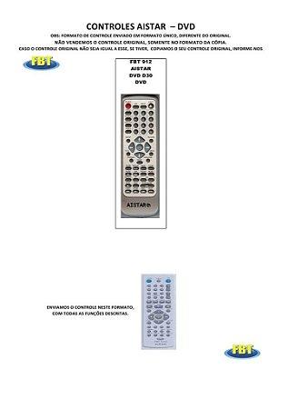 Controle Remoto Dvd 888K Ag Aiko Airis Aistar