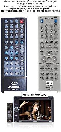 Controle Remoto Compatível - HBUSTER C/PHONE HBD 9400 HBD-9450AVN