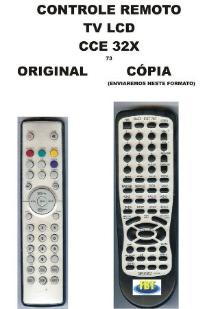 Controle Remoto Compatível - Tv Lcd Cce 32x