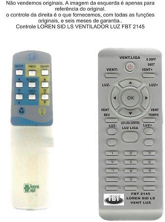 Controle Loren Sid Ls Ventilador/luz Fbt 2145