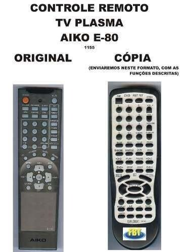 Controle Remoto Tv Plasma Aiko E-80 Fp-pl4240 Fp-pl4281l