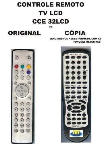 Controle Remoto Compatível - Tv Lcd Cce 32lcd D32