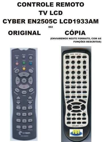 Controle Remoto Tv Lcd CYBER EN 2505C LCD / 1933 AM