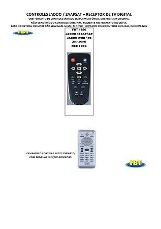 Controle Remoto Receptor de Tv Digital Automotivo Rec1Seg Dsw WiiTv Invix Jadoo Zaapsat Kx3 Rc9 Orange LbSat H-Buster Midi Japan Telesystem Isdb-T Shark
