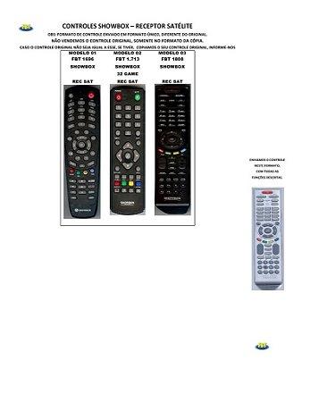 Controle Remoto Compatível - Receptor Satelite Showbox Sonicview Speedynet StarBox Starview Topfield