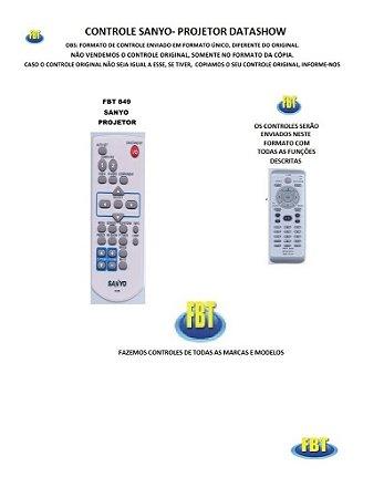 Controle Remoto Compatível - UNIVERSAL para Projetor Digital DATASHOW SANYO //LEIA O ANÚNCIO