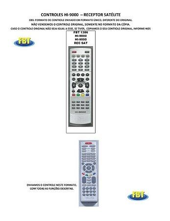 Controle Remoto Receptor Digital Satelite Hikor HstBox I-box Iptv LexusBox LogicSat Maxfly Megabox