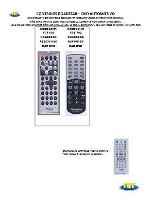 Controle Remoto Compatível - Dvd Automotivo Philco Pyramid Roadstar Silence Premium Sondpex Soundstorm Starsonic Vega Webox Witson