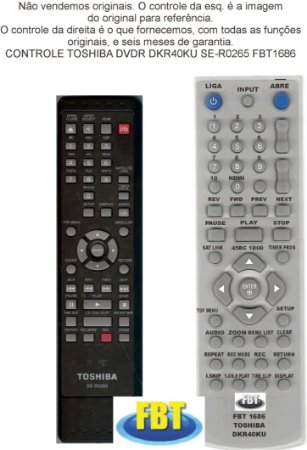 CONTROLE PARA GRAVADOR DE DVD SEMP DKR 40 SE-R0265