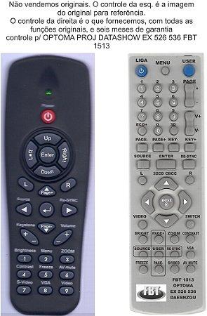 Controle Remoto Compatível - Optoma BR300 EX526 536 DX609V EP727 EP728 EW1610 TS721 TX727 TX728 X542 TX762 EX542 DS551 DX551 TS551 TX551 TX631-3D TW631-3D