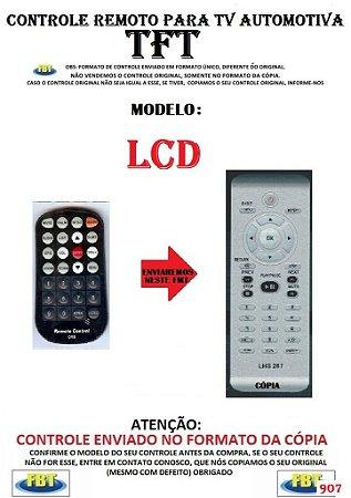Controle Remoto Compatível - para TV Digital AUTOMOTIVA TFT LCD