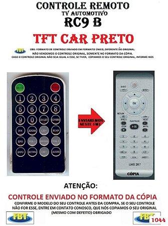 Controle Remoto Compatível - para TV Digital Automotivo RC9 TFT CAR PRETO