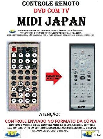 Controle Remoto Compatível para DVD/TV MIDI JAPAN DVD+TV