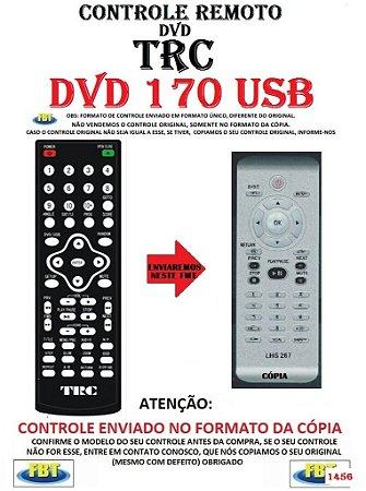 Controle Remoto Compatível - para DVD TRC 170 USB