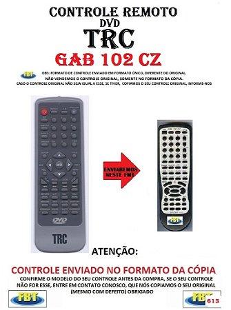 Controle Remoto Compatível - para DVD TRC GAB 102 CZ
