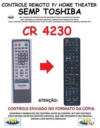 Controle Remoto Compatível - para Home THEATER SEMP TOSHIBA CR-4230
