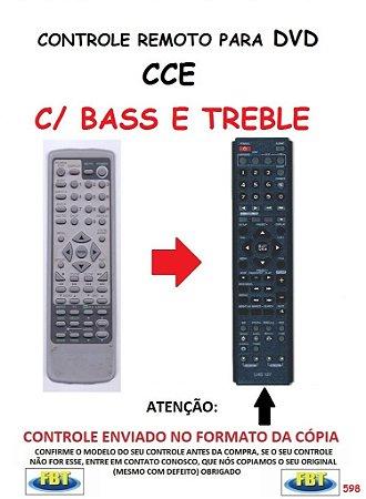 Controle Remoto Compatível - para DVD CCE C/ BASS E TREBLE