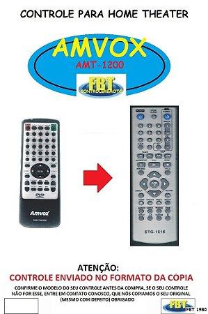 Controle Remoto Compatível - para DVD AMVOX AMT-1200