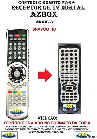 CONTROLE REMOTO PARA RECEPTOR DE TV DIGITAL AZBOX BRAVOO HD
