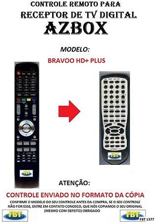 CONTROLE REMOTO PARA RECEPTOR DE TV DIGITAL AZBOX BRAVOO HD+ (PLUS)